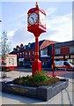 SJ9098 : Town clock, Villemomble Square, Droylsden by P L Chadwick