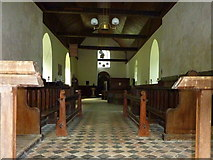 TQ9963 : The nave of the Church of St. Mary, Luddenham by pam fray