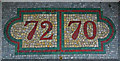 TR3752 : Shop unit numbers in mosaic, High Street, Deal by Julian Osley