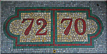 TR3752 : Shop unit numbers in mosaic, High Street, Deal by Jim Osley