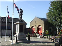 SD4970 : War memorial and fire station, Carnforth by Malc McDonald