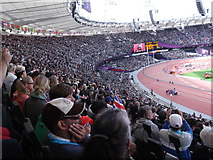TQ3783 : The Paralympic crowd, Olympic Stadium by Robin Sones