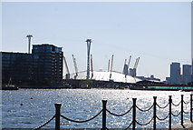 TQ3980 : O2 Arena and Emirates Airline by N Chadwick