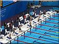 TQ3784 : Paralympics swimming  men's 50M back S5 by David Hawgood