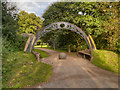 SJ6576 : Path from Car Park, Marbury Country Park by David Dixon