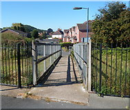 SO4382 : Exit from platform 1, Craven Arms railway station by Jaggery