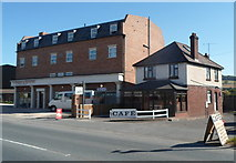 SO4383 : Route 49 Fish & Chips shop and Station Cafe, Craven Arms  by Jaggery