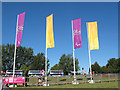 TQ5664 : Brands Hatch paralympics - banners by Stephen Craven