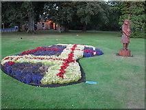 NJ0459 : Tartan flower display by don cload