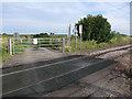 TL5788 : Poplar Drove level crossing by Hugh Venables