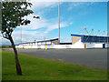 SJ3866 : Stadium Across the Border by Des Blenkinsopp