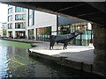TQ3083 : Cow at Kings Place by Dave Pickersgill