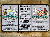SJ8297 : Prince's Bridge, Manchester-Salford by David Dixon