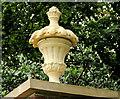 J1486 : Urn, Castle Gardens, Antrim by Albert Bridge