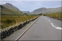 SH6959 : The A5 approaching the Ogwen Valley by Philip Halling