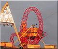 TQ3784 : Arcelormittal Orbit tower and stadium floodlights by David Hawgood
