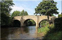 SK2572 : Baslow road bridge over river Derwent by J.Hannan-Briggs