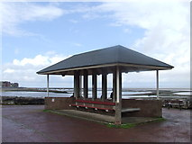 SD4464 : Seafront shelter, Bare near Morecambe by Malc McDonald