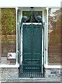 SE1039 : Gate across shop entrance, Old Main Street by Humphrey Bolton