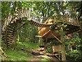 SH8405 : Treehouse near Cemmaes by Derek Harper