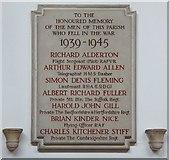 TL8866 : Holy Innocents, Great Barton - War Memorial WWII by John Salmon