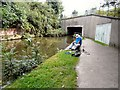 SJ9495 : Fisherman by  Bridge #5 by Gerald England
