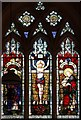 TL9889 : St Ethelbert, Larling - Stained glass window by John Salmon