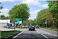 TQ4563 : A21 approaching a roundabout at Green Street Green by N Chadwick