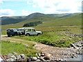 NN4695 : A group of Land Rovers at Melgarve by Dave Fergusson