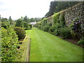 NJ7900 : The southern boundary of the Walled Garden at Drum Castle by Stanley Howe
