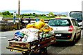 M2208 : The Burren - R477 - Ballyvaghan - SUV with Bag-Laden Trailer by Suzanne Mischyshyn