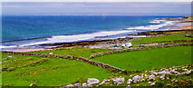 M1206 : The Burren - R477 - Creggagh - Stone Walls, Fields, Ocean &, Beach by Suzanne Mischyshyn