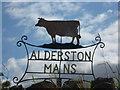 NT4975 : Rural East Lothian : Alderston Mains Farm Sign by Richard West
