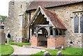 TQ6916 : St Michael & All Angels, Penhurst - Porch by John Salmon