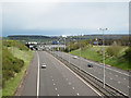 SP2186 : M6 Toll crossed by M6 eastbound, looking east by Robin Stott
