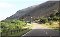 SO0209 : A4054 junction from A470 by John Firth