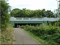 TQ1372 : A316 bridge over River Crane by Robin Webster