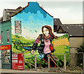 J3674 : Disguising mural, Belfast by Albert Bridge