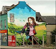 J3674 : Disguising mural, Belfast by Albert Bridge