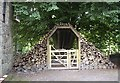 NJ7900 : An ornamental wooden gate by Stanley Howe