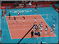 TQ2578 : Olympic volleyball at Earls Court by Nick Smith