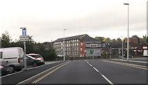 SJ2207 : New one way system through Church Street car park by John Firth