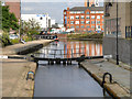 SJ8498 : Rochdale Canal, Lock#84 and Piccadilly Basin by David Dixon