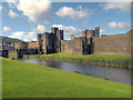 ST1587 : Caerphilly Castle, Outer Wall and Moat by David Dixon