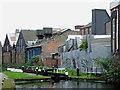 SP0987 : Lock and industrial buildings near Saltley, Birmingham by Roger  Kidd