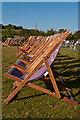 TQ2549 : Deckchairs by Ian Capper