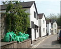 SO5112 : Green bags and white houses, Granville Street, Monmouth by Jaggery