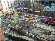 TQ2881 : Crossrail construction, Davies Street by Stephen Richards