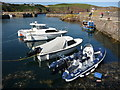 NT9267 : Coastal Berwickshire ; Small Craft in the Outer Harbour at St. Abbs by Richard West