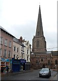SO5040 : All Saints Church spire, Hereford by Jaggery